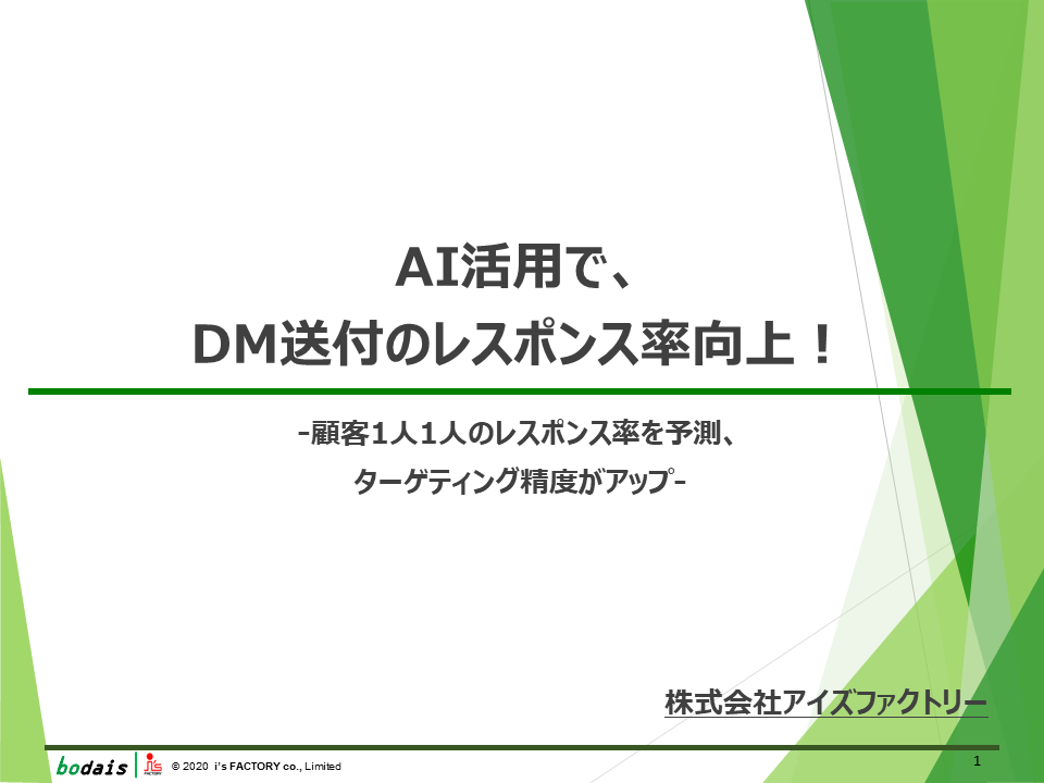AI活用で、DM送付のレスポンス率向上!