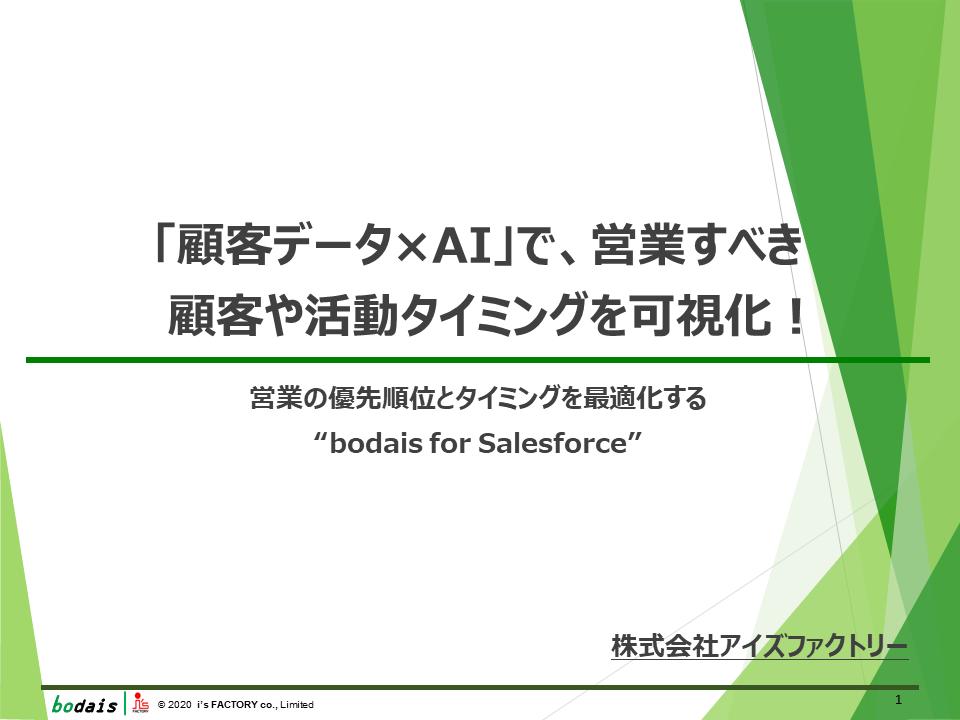 「顧客データ×AI」で、営業すべき顧客や活動タイミングを可視化!
