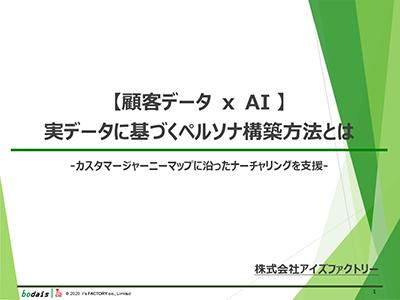 【顧客データ x AI 】実データに基づくペルソナ構築方法とは